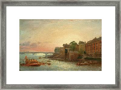 Somerset House, London, Frederick Nash, 1782-1856 Framed Print