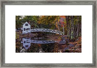 Somersville Maine. Framed Print