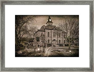 Somervell County Courthouse Framed Print by Joan Carroll