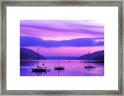 Somes Sound At Dawn Framed Print by Jim Block