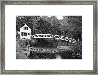 Somesville Bridge  Framed Print by Christiane Schulze Art And Photography
