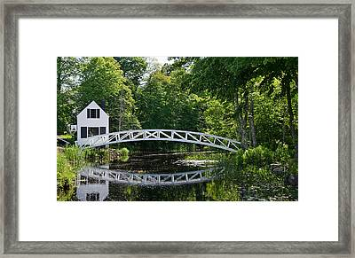 Somesville Bridge Framed Print
