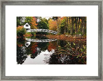 Somesville Bridge Framed Print by Marcia Colelli