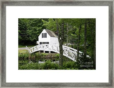 Somesville Postcard Idyll Framed Print by Christiane Schulze Art And Photography