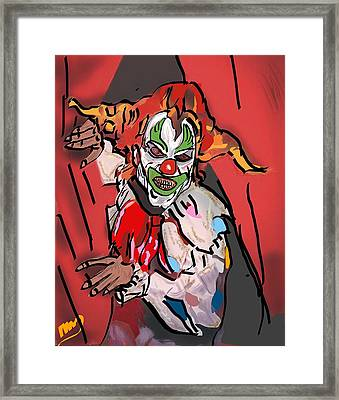 Something About A Clown Framed Print