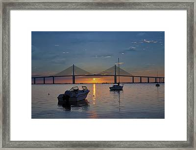 Something About A Sunrise Framed Print