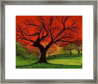 Something About Autumn Framed Print