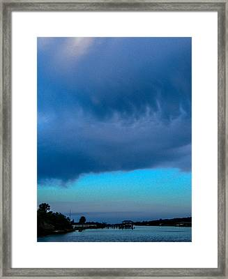 Something About The Weather Framed Print by Christy Usilton