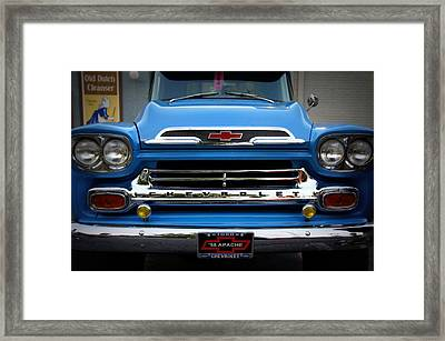 Something Bout A Truck Framed Print by Laurie Perry