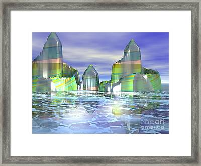 Framed Print featuring the digital art Something Colorful by Jacqueline Lloyd