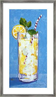 Something Cool To Drink Framed Print by Kelley Smith