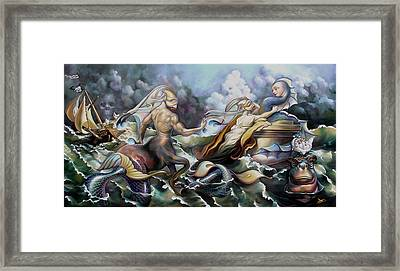 Something Fowl Afloat Redux Framed Print by Patrick Anthony Pierson
