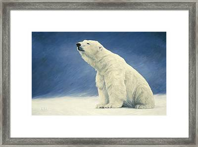 Something In The Air Framed Print by Lucie Bilodeau
