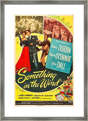 Something In The Wind, Us Poster Framed Print by Everett