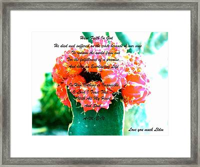 Something Inside Looking Out Framed Print by Lorna Maza