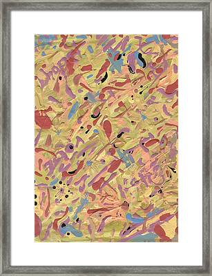 Framed Print featuring the painting Something Like That But Different Than You'd Think by Yshua The Painter