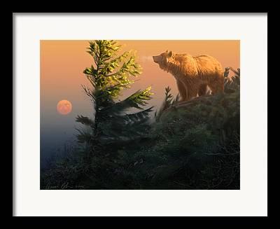 Bear Digital Art Framed Prints