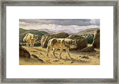 Something On The Wind Framed Print
