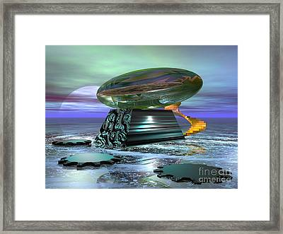 Framed Print featuring the digital art Something Shiny by Jacqueline Lloyd
