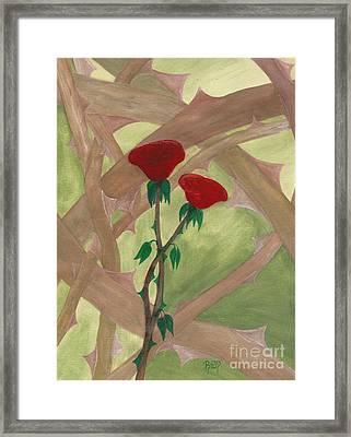Something Simple Framed Print by Robert Meszaros