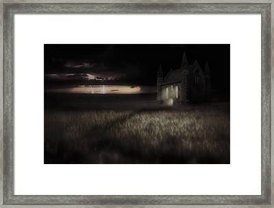 Something Wicked - Lightning - Chapel - Gothic Framed Print
