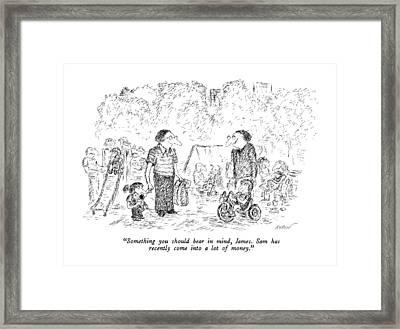 Something You Should Bear In Mind Framed Print by Edward Koren