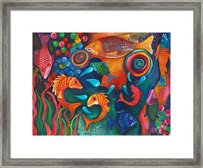 Something's Fishy Framed Print by Debbie McCulley