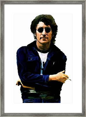 Sometime In Nyc  John Lennon Framed Print by Iconic Images Art Gallery David Pucciarelli