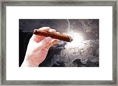 Sometimes A Cigar Framed Print by Douglas Christian Larsen