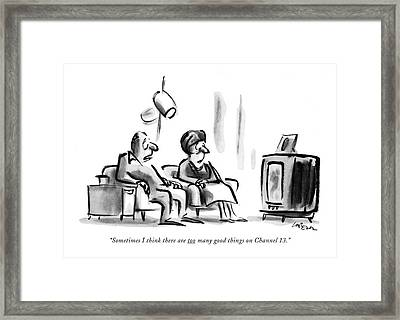 Sometimes I Think There Are Too Many Good Things Framed Print by Lee Lorenz