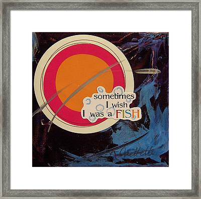 Sometimes I Wish Framed Print