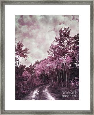 Sometimes My World Turns Pink Framed Print