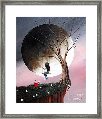 Sometimes She Just Wants To Be Alone By Shawna Erback Framed Print