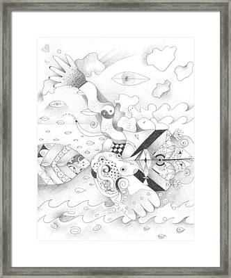 Sometimes Sideways Framed Print by Helena Tiainen