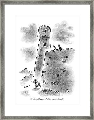 Sometimes They Get Frustrated And Punch The Wall Framed Print by Frank Cotham