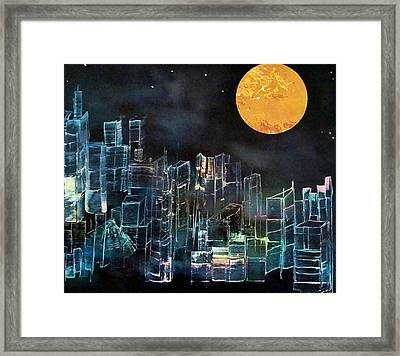 Sometimes Things Look Better In The Dark Framed Print