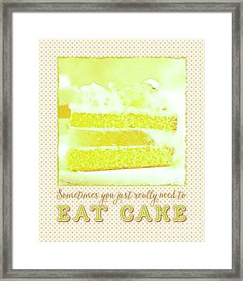 Sometimes You Just Really Need To Eat Melon Cake Framed Print