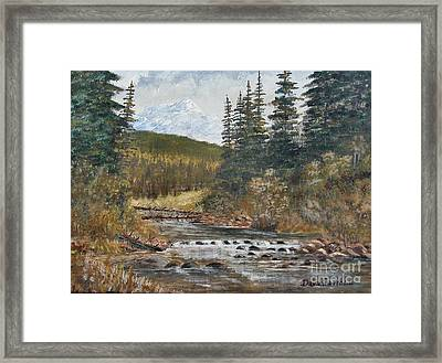 Somewhere Above South Fork Framed Print by Dana Carroll