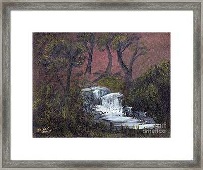 Somewhere Along A Waterfall Framed Print