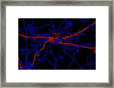 Somewhere Around Barstow Framed Print