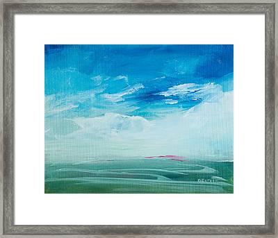 Somewhere Beyond The Sea Framed Print