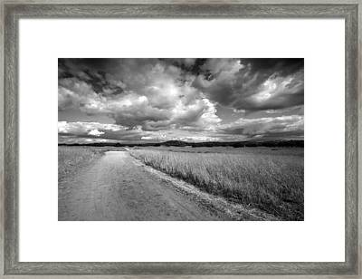 Somewhere Down The Road Framed Print by Peter Tellone