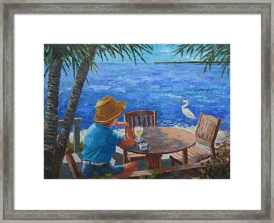 Framed Print featuring the painting Somewhere Else by Tony Caviston