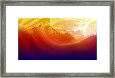 Framed Print featuring the photograph Somewhere In America Series - Colorful Light In Antelope Canyon by Lilia D