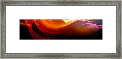 Framed Print featuring the photograph Somewhere In America Series - Red Waves In Antelope Canyon by Lilia D