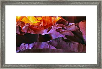 Framed Print featuring the photograph Somewhere In America Series - Transition Of The Colors In Antelope Canyon by Lilia D