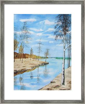 Somewhere In Dalarna Framed Print by Martin Howard