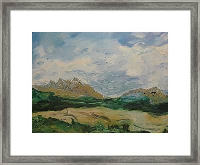 Somewhere In Denali Framed Print