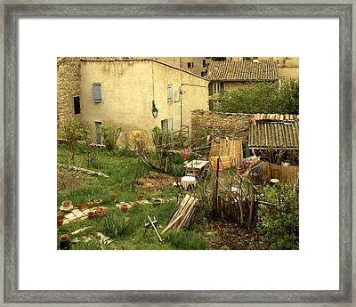 Framed Print featuring the photograph Somewhere In France by Colleen Williams