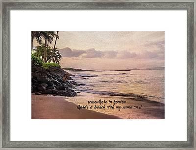 Somewhere In Heaven Framed Print by Ramona Murdock